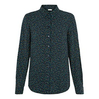 Hobbs Mini Square Print Shirt Navy