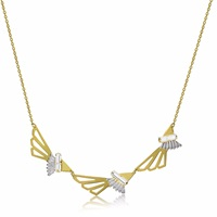 Anna Byers Three Wing Necklace Gold Silver