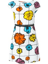 Moschino Floral Belted Dress White