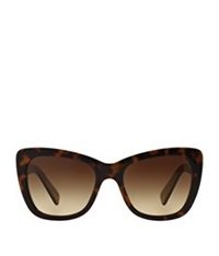Dolce And Gabbana Butterfly Frame Logo Sunglasses Brown