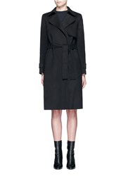 Theory 'Oaklane' Belted Wool Cashmere Coat Black