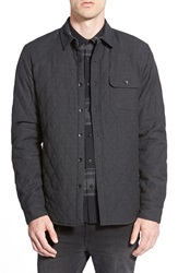 Ezekiel 'Salute' Quilted Shirt Jacket Black