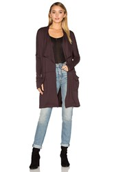 Michael Stars Long Draped Coat Brown