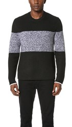Rag And Bone Roscoe Crew Sweater Black