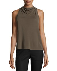 Halston Heritage Sleeveless Mock Neck Top Sage Green Women's Size 0