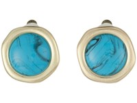 Karen Kane California Current Clip On Earrings Turquoise Earring Blue