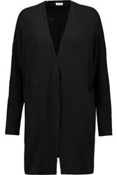 Splendid Cocoon Duster Stretch Jersey Cardigan Black