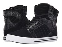 Supra Skytop Black Croc White Men's Skate Shoes