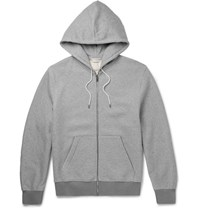 Balenciaga Fleece Back Cotton Jersey Hoodie Stone