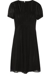 Marc By Marc Jacobs Pleated Silk Georgette Mini Dress Black