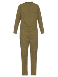 Vanessa Bruno Eugene Cotton Canvas Jumpsuit Khaki