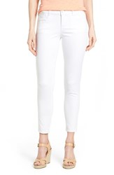 Women's Wit And Wisdom 'Ab Solution' Stretch Ankle Skinny Jeans Optic White Nordstrom Exclusive