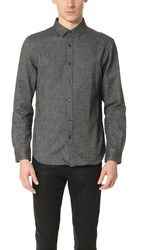 Club Monaco Long Sleeve Slim Jaspe Shirt