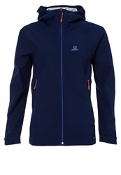 Salomon Nebula Hardshell Jacket Wisteria Navy Dark Blue