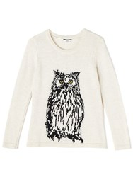 Dash Owl Intarsia Jumper Metallic