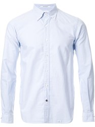 Bedwin And The Heartbreakers Classic Button Down Shirt Blue