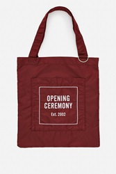 Opening Ceremony Eco Tote Bag Burgundy