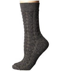 Smartwool Cozy Dot Crew Taupe Heather Women's Crew Cut Socks Shoes