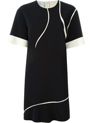 Cedric Charlier Contrasted Dress Black