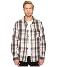 Alternative Apparel Yarn Dye Flannel Logger Shirt Jacket Grey Plaid Men's Coat Multi