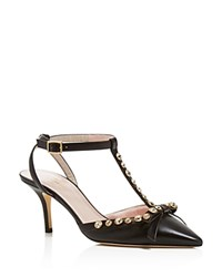 Kate Spade New York Julianna T Strap Pointed Pumps Black