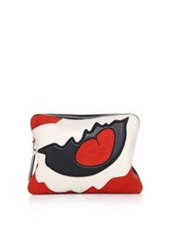 3.1 Phillip Lim 31 Second Leather Patchwork Clutch Rosso