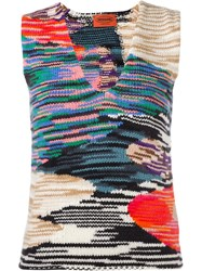 Missoni Knit Tank Top Black
