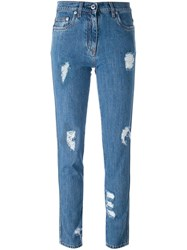 Moschino Distressed Jeans Blue