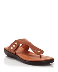 Gentle Souls Flat Thong Sandals Galaxy Braided Cognac