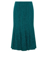 Eastex Lace Jersey Skirt Turquoise