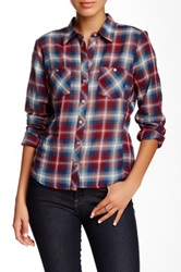 Sandra Ingrish Multi Plaid Shirt Petite Red