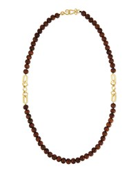 Timber Wooden Bead Necklace Gold Stephanie Kantis