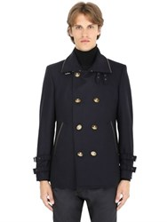 Vivienne Westwood Wool Felt Coat W Leather Trim
