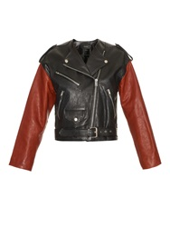 Isabel Marant Audric Bi Colour Leather Biker Jacket