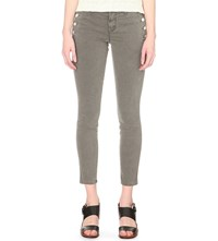 J Brand Zion Skinny Mid Rise Jeans Distressed Silver Fox