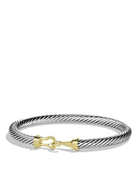 David Yurman Cable Buckle Bracelet With Gold Gold Silver