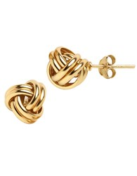Lord And Taylor 18K Gold Over Sterling Silver Knot Stud Earrings