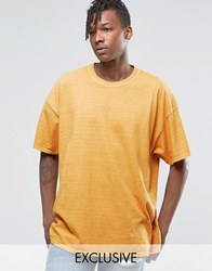 Reclaimed Vintage Oversized T Shirt In Overdye Mustard Yellow