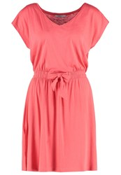 Edc By Esprit Kimo Jersey Dress Coral Red