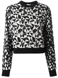 Fausto Puglisi Panelled Jacquard Sweater Black