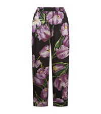 Dolce And Gabbana Tulip Print Pyjama Trousers Female Black