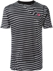 Mcq By Alexander Mcqueen Mcq Alexander Mcqueen 'Swallow' Striped T Shirt Black