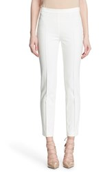 Women's Akris Punto 'Franca' Techno Cotton Blend Pants Ecru