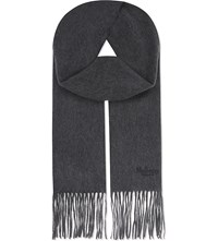 Mulberry Classic Cashmere Scarf Grey Melange
