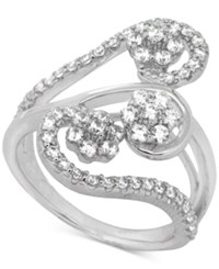 Wrapped In Love Diamond Abstract Statement Ring 1 Ct. T.W. In 14K White Gold