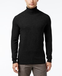 Club Room Men's Cashmere Turtleneck Sweater Only At Macy's Deep Black