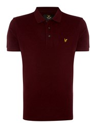 Lyle And Scott Short Sleeve Classic Polo Claret