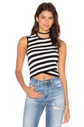 Autumn Cashmere Criss Cross Crop Top Black