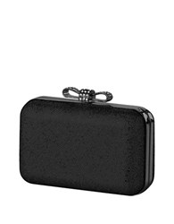 La Regale Sparkle Bow Minaudiere Black