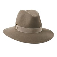 Penmayne Of London Willow Fedora Mink Gold Ring Nude Neutrals